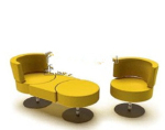 Yellow functional sofa model