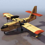 Yellow airplane 3d models