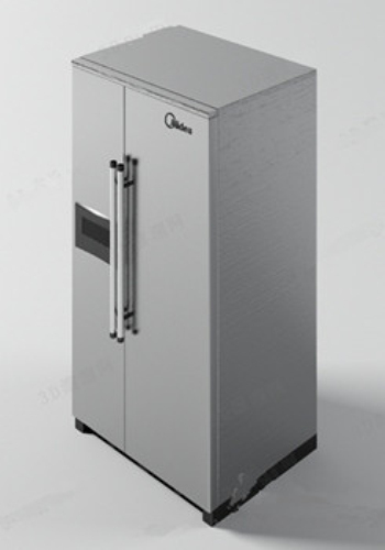 The new refrigerator 3d model