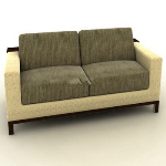 Simple double sofa model