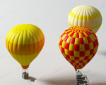 Color creative hot air balloon model