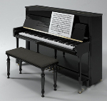 3d model of high-grade piano