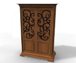 Antique wardrobe 3d model