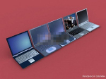 3d model of laptops