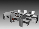 Multiplayer office 3d models