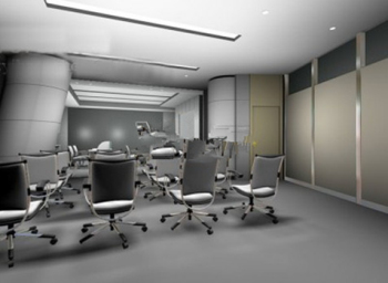 3d model of corporate boardrooms