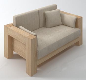 Wood soft sofas 3d models 3d model download free 3d models - Sofas comodos y modernos ...
