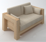 Wood soft sofas 3d models