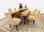 Luxury dining tables and chairs 3d models