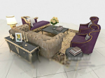 European people sofa 3d models