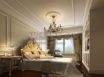 3d model of European-style luxury bedroom