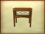 Retro wooden table 3d model