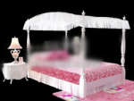 Little princess bed 3d model