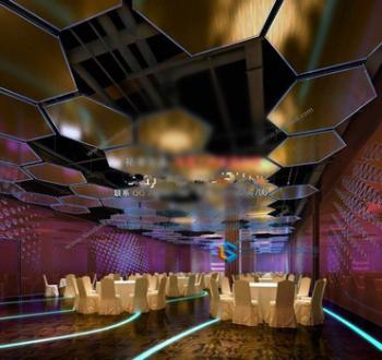 Five colorful restaurant 3d model