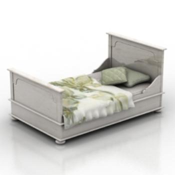white bed 3D models