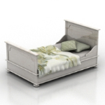 white bed 3D models