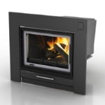 black fireplace 3D models