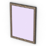 rectangle pattern borders mirror model modern furniture models