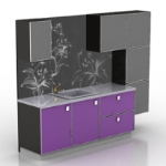 black cool cupboard 3D models