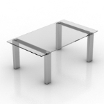 transparent high coffee table model