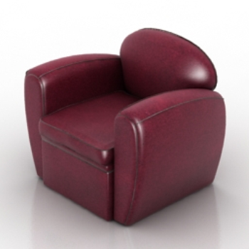 Wine Red Leather Sofa Model 3d Model Download Free 3d