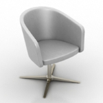 Silver cup-shaped sofa model