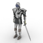 European knights 3D models