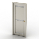 European elegant white doors of 3D models