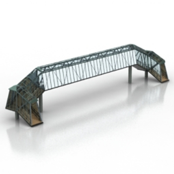 bridge construction site model
