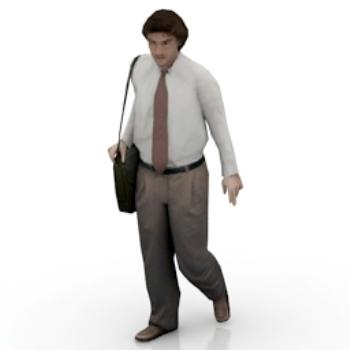 white-collar man model