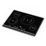 high-end 3D model gas stove