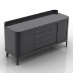 black Atmospheric desk 3D models