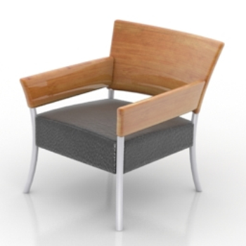 Simple wood single chair models