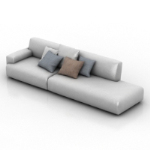 white couch model
