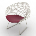 Red single chair 3D model