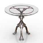 European refined metal coffee table model