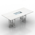 white creative desk model