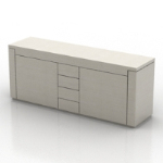 white fashion desk 3D models