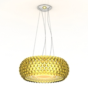 bright golden chandelier model