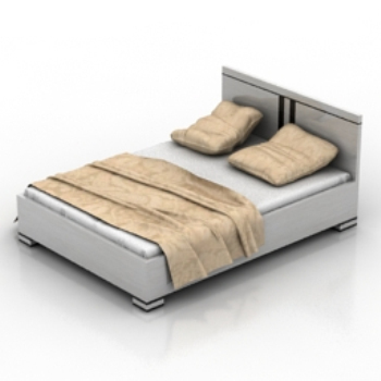 white double bed model