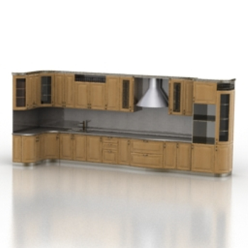 Luxury wooden cabinet model