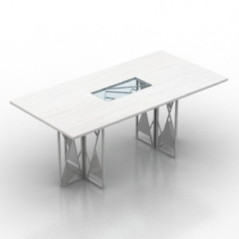 white table model