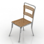 gold rattan chair model