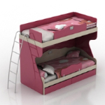 cute pink bunk 3D models