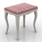 red single stool 3D model