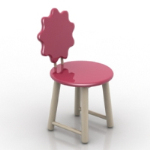 adorable child bench 3D models
