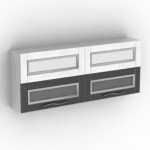black and white four-frame cabinet model