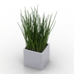 grass potted model plant model