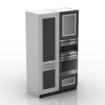 black and white cabinet model