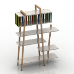 Color bookshelf model